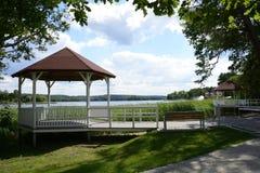 Barlinek, lago, ciudad y alrededores imagenes de archivo