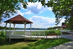 Barlinek, lago, ciudad y alrededores imagen de archivo