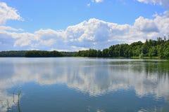 Barlinek, lago, ciudad y alrededores imagen de archivo libre de regalías