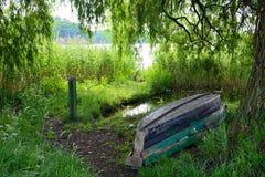 Barlinek, lago, ciudad y alrededores foto de archivo