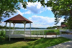 Barlinek, lake, city and surroundings. The charming town of Barlinek - located in western Poland, in Western Pomerania on the lake Barlineckie Stock Image