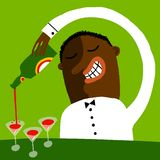 barman иллюстрация штока