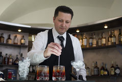 Barman stock foto