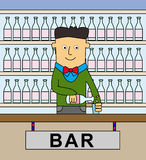 Barman Photo stock