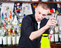 Barman in action Royalty Free Stock Photos