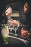 Barman au travail Photographie stock
