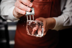 Free Barman Breaking Ice With Pick Royalty Free Stock Images - 74799819