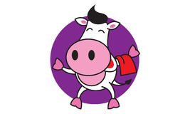 Barman Cow illustration stock