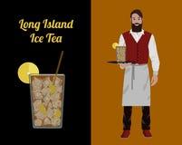 Barman de cocktail illustration stock