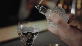 Barman dodaje woń suszyć Martini koktajl zbiory