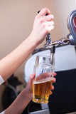 Barman draft beer Royalty Free Stock Image