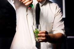 Barman and drink Stock Photo