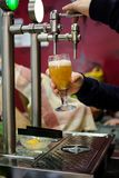 Beer tap from beer bar royalty free stock photo