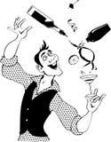 Barman klem-kunst royalty-vrije illustratie