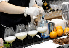 Barman mixing Stock Image