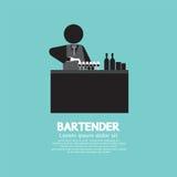 Barman noir de symbole illustration libre de droits