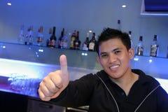 Barman op het werk Royalty-vrije Stock Foto