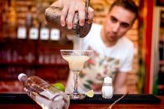 Free Barman Pouring A Margarita Alcoholic Cocktail Serv Stock Image - 42961431