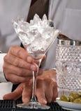 Barman preparing cocktail Stock Photography