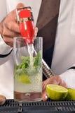 Barman preparing cocktail Stock Photo