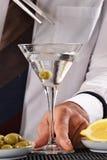 Barman preparing cocktail Royalty Free Stock Images