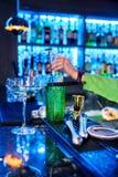 Barman professional making cocktail Stock Image