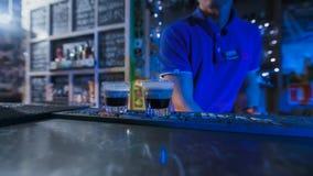 barman przygotowywa dwa małego koktajl Zdjęcie Stock