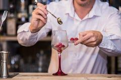 Barman que faz um cocktail imagem de stock