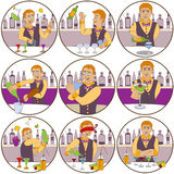 Barman stickers Stock Photos