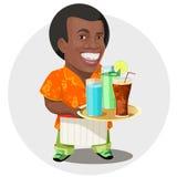 Barman royalty free illustration