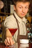 A barman at work Royalty Free Stock Photos