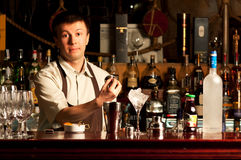 Barman at work Royalty Free Stock Photography