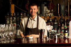 Barman at work Royalty Free Stock Photos