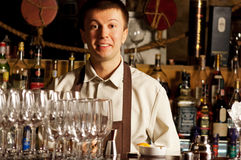 Barman at work Stock Photo