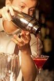 Barman at work Royalty Free Stock Image