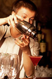 Barman at work Stock Photos