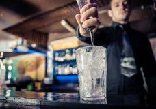 Barman at work Royalty Free Stock Photo