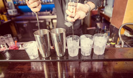 Barman at work Stock Image