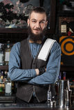 Barman at work. Royalty Free Stock Photography