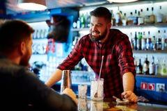 Barman at work Stock Photos