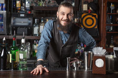 Barman at work. Stock Images