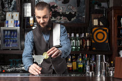 Barman at work. Stock Image