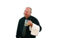 Barman z Piwem zdjęcia royalty free