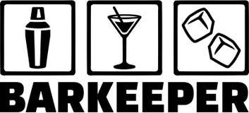 Barmanbarman Barkeeper Tripple Stock Foto's