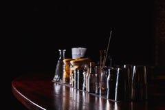 Barmanhulpmiddelen op bar Stock Foto
