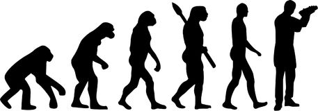 Barmanu barmanu ewolucja ilustracja wektor