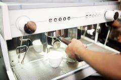 Barmen making coffee stock photography