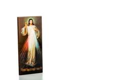 Barmhärtig Jesus bild med det tomma bandet Royaltyfri Foto