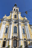 Barmherzigenkirche kyrka i Graz, Styria, Österrike Arkivfoto