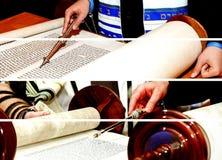 Barmitzvah reading Torah scrolls Holy city of Jerusalem on Holiday. Of 13th birthday of jew Royalty Free Stock Photos